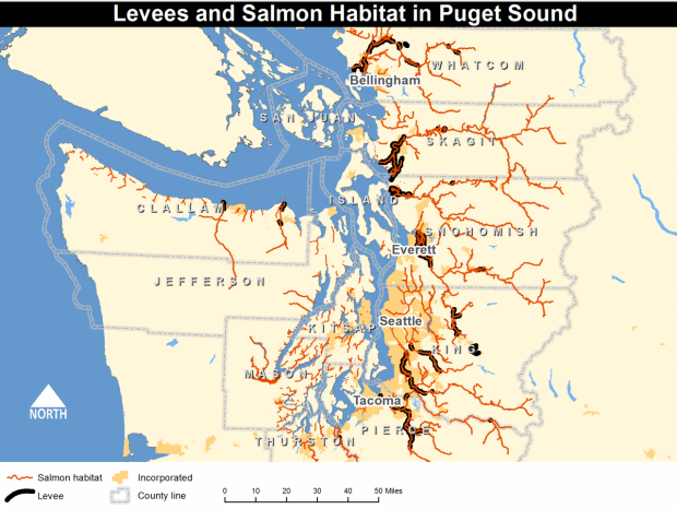 Maps And Gis Encyclopedia Of Puget Sound - Puget-sound-on-us-map