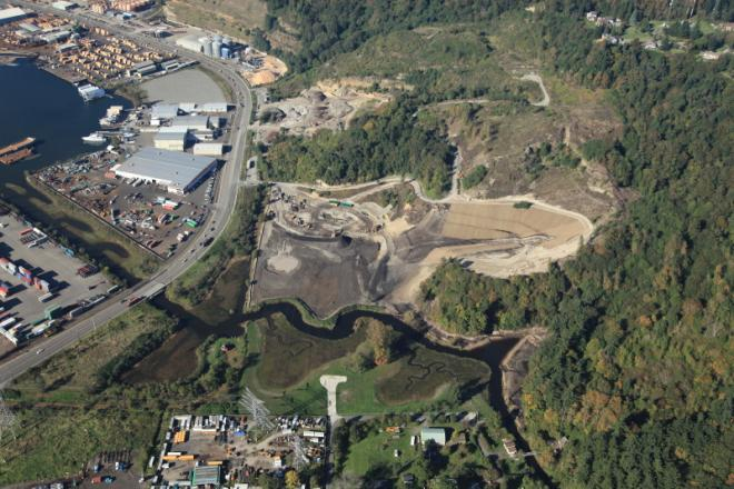 Hylebos Creek habitat restoration overview. Photo: Port of Tacoma (CC BY-NC-ND 2.0) https://www.flickr.com/photos/portoftacoma/5054236367