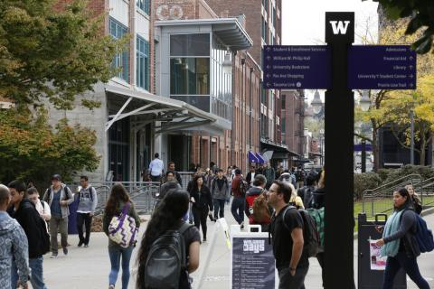 The University of Washington Tacoma has spurred sustainable urban development including re-purposing of historic buildings, new housing, a museum and retail district, multi-use trails, and light rail transit. Photo courtesy: UW Tacoma