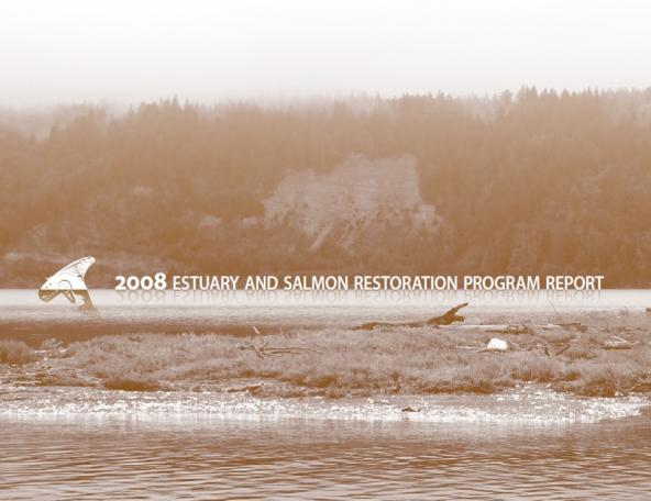 2008 Estuary & salmon restoration program annual report cover
