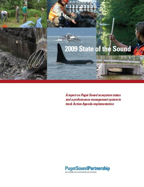 2009 State of the Sound report cover image; Puget Sound Partnership