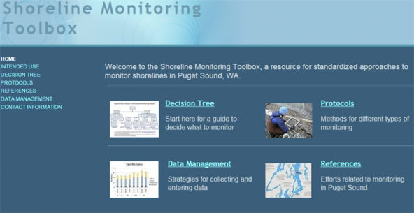 Screenshot of the shoreline monitoring toolbox