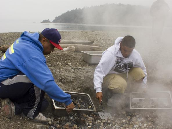 2013 Swinomish Tribe clam bake. Photo: Copyright Northwest Treaty Tribes https://www.flickr.com/photos/nwifc/9517621153