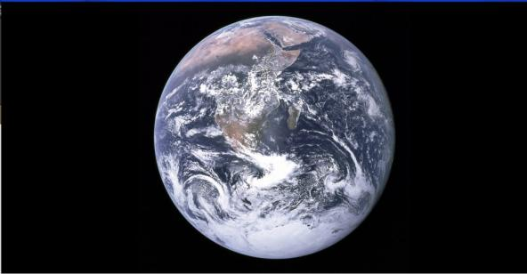 """The Blue Marble,"" photo taken by the crew of Apollo 17 in 1972, two years after the first Earth Day"