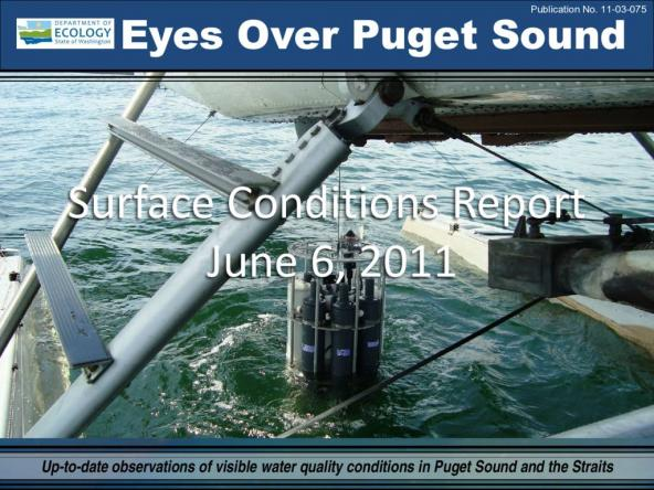 Eyes Over Puget Sound: Surface Conditions Report - June 06, 2011