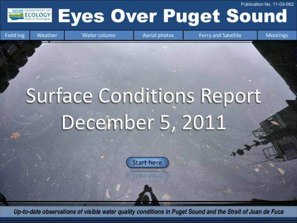 Eyes Over Puget Sound: Surface Conditions Report - December 5, 2011