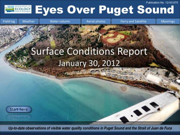 Eyes Over Puget Sound: Surface Conditions Report - January 30, 2012