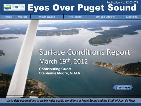 Eyes Over Puget Sound: Surface Conditions Report - March 19, 2012