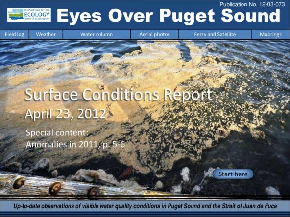 Eyes Over Puget Sound: Surface Conditions Report - April 23, 2012