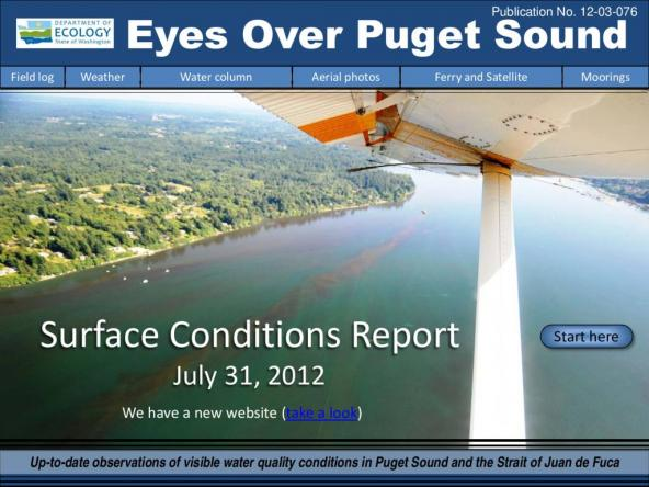 Eyes Over Puget Sound: Surface Conditions Report - July 31, 2012