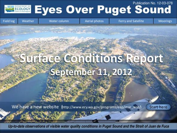 Eyes Over Puget Sound: Surface Conditions Report - September 11, 2012