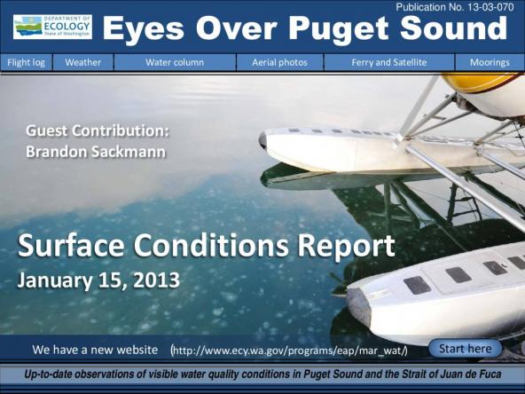 Eyes Over Puget Sound: Surface Conditions Report - January 15, 2013