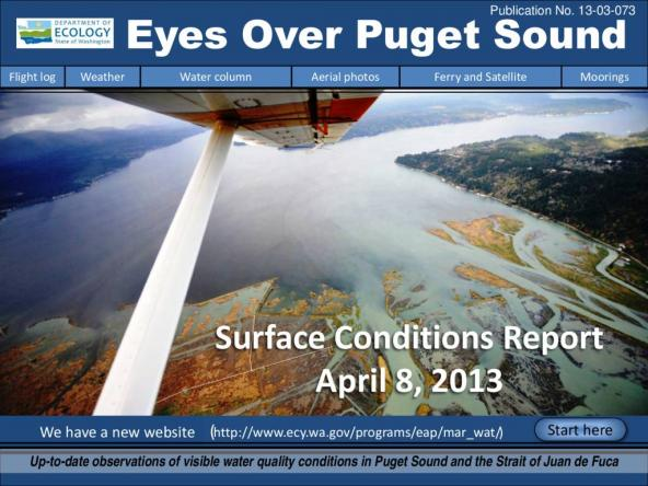 Eyes Over Puget Sound: Surface Conditions Report - April 8, 2013