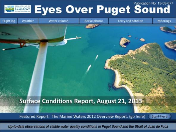 Eyes Over Puget Sound: Surface Conditions Report - August 21, 2013
