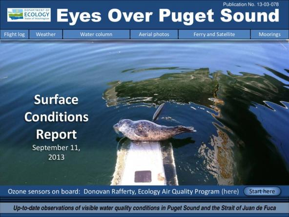 Eyes Over Puget Sound: Surface Conditions Report - September 11, 2013