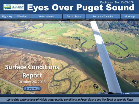 Eyes Over Puget Sound: Surface Conditions Report - October 28, 2013