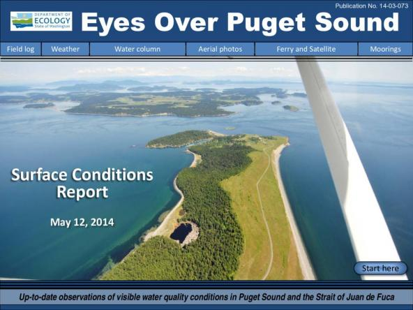 Eyes Over Puget Sound: Surface Conditions Report - May 12, 2014
