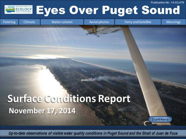 Eyes Over Puget Sound: Surface Conditions Report - November 17, 2014