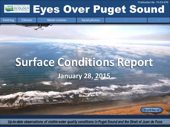 Eyes Over Puget Sound: Surface Conditions Report - January 28, 2015