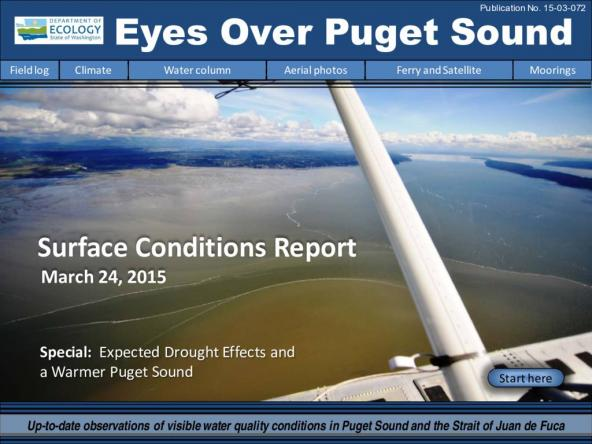 Eyes Over Puget Sound: Surface Conditions Report - March 24, 2015
