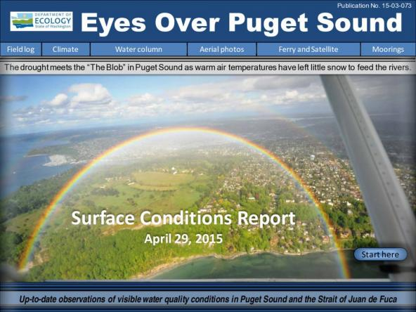 Eyes Over Puget Sound: Surface Conditions Report - April 29, 2015