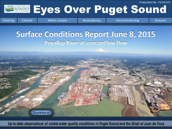 Eyes Over Puget Sound: Surface Conditions Report - June 8, 2015