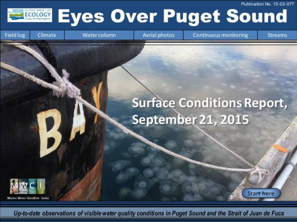 Eyes Over Puget Sound: Surface Conditions Report – September 21, 2015