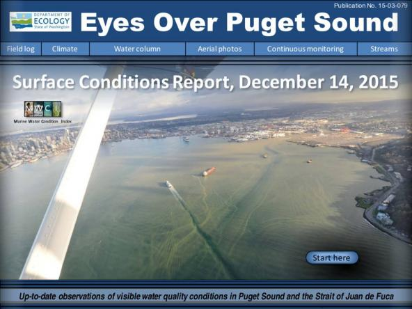 Eyes Over Puget Sound: Surface Conditions Report – December 14, 2015