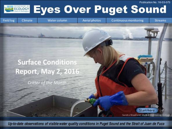 Eyes Over Puget Sound: Surface Conditions Report – May 2, 2016