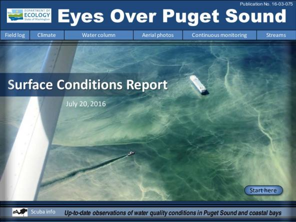 Eyes Over Puget Sound: Surface Conditions Report – July 20, 2016