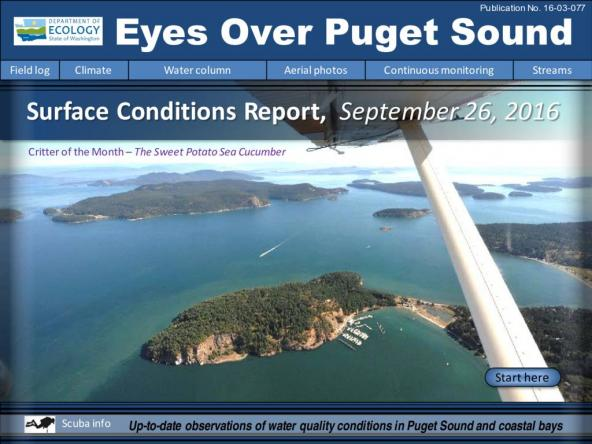 Eyes Over Puget Sound: Surface Conditions Report – September 26, 2016