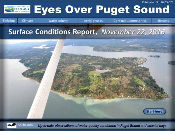 Eyes Over Puget Sound: Surface Conditions Report – November 22, 2016