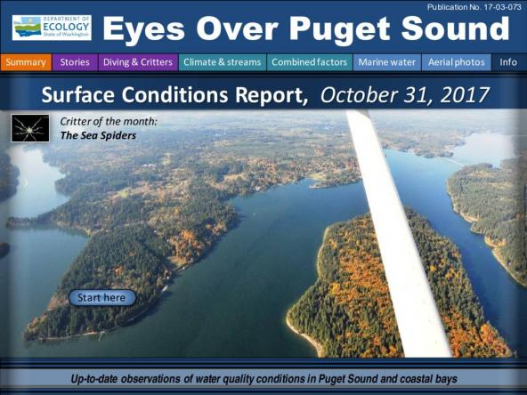Eyes Over Puget Sound: Surface Conditions Report, October 31, 2017