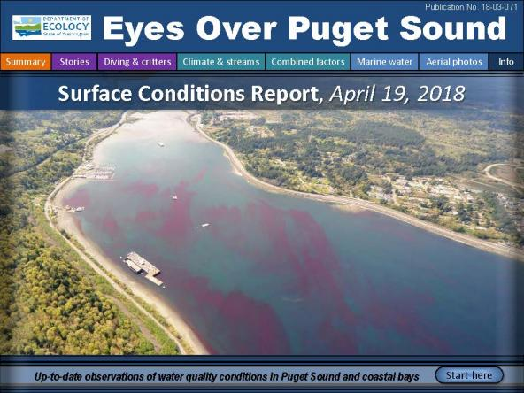 Eyes Over Puget Sound: Surface Conditions Report – April 19, 2018