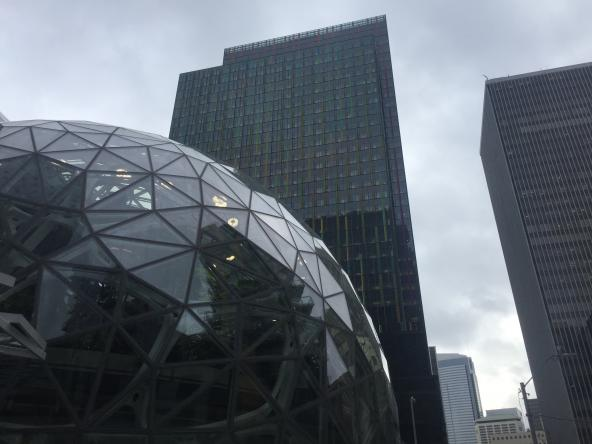 Amazon Spheres in Seattle. Photo: Jeff Rice