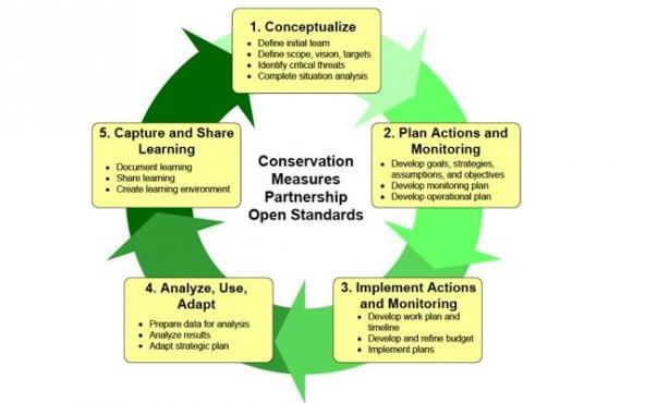 Open Standards Project Management Cycle. Graphic courtesy of Conservation Measures Partnership