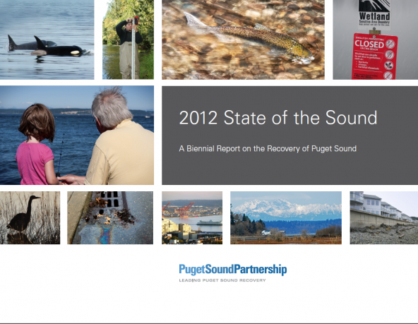State of the Sound cover image; Puget Sound Partnership
