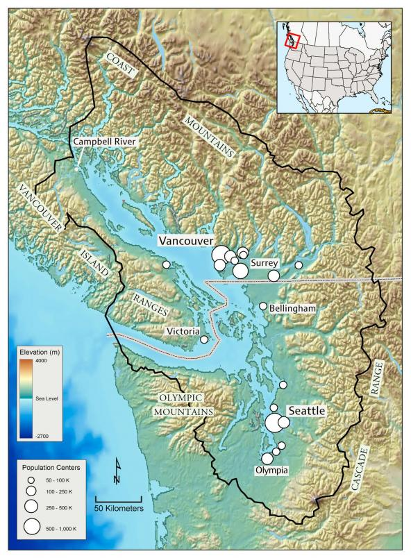 Salish Sea map my Norm Maher. Courtesy of the SeaDoc Society.