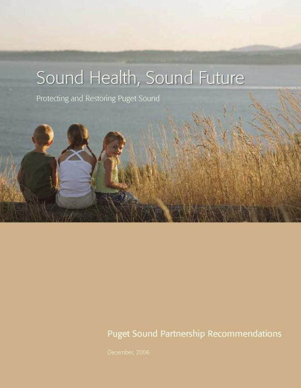 Sound Health, Sound Future: Protecting and Restoring Puget Sound (cover)