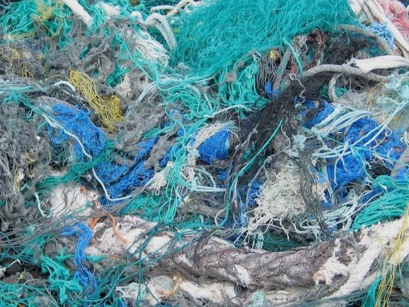 A tangled pile of derelict fishing nets. Photo: NOAA