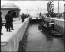 Ballard Locks under construction, 1916. Photo © Webster & Stevens/MOHAI.