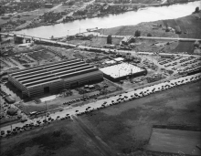 Aerial view of Boeing plant, 1943. Photo © Seattle P-I/MOHAI.