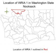 Location of WRIA 1 in Washington State