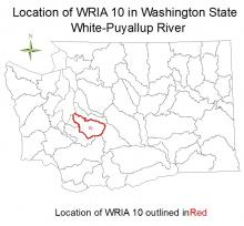 Location of WRIA 10 in Washington State