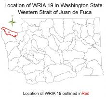 Location of WRIA 19 in Washington State