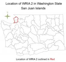 Location of WRIA 2 in Washington State