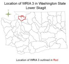Location of WRIA 3 in Washington State