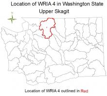 Location of WRIA 4 in Washington State