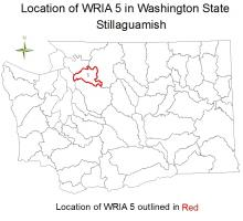 Location of WRIA 5 in Washington State