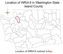 Location of WRIA 6 in Washington State